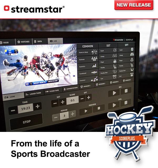 sports graphics, Streamstar SCOREPLUS – HOCKEY released.