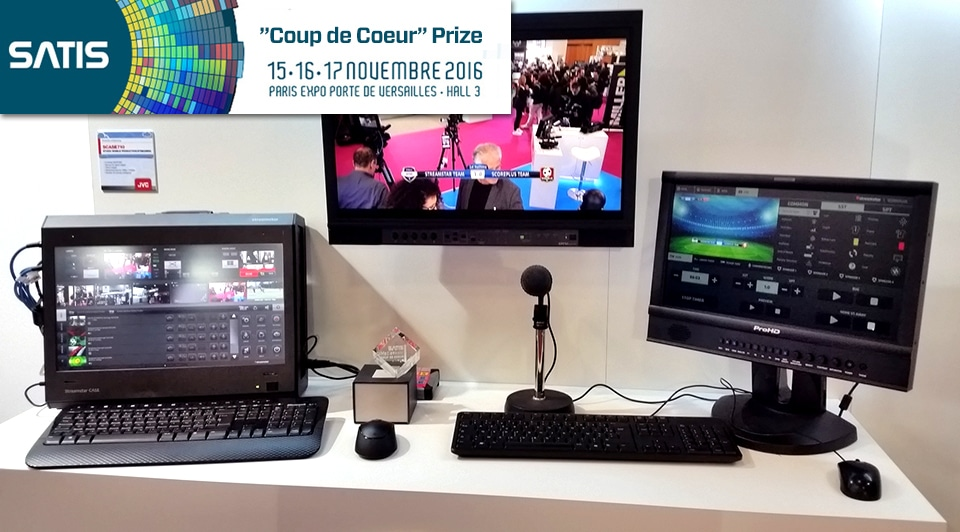 "live production, SATIS EXPO 2016 ""Coup de Coeur"" – ""You'll Love It"" Prize for Streamstar"