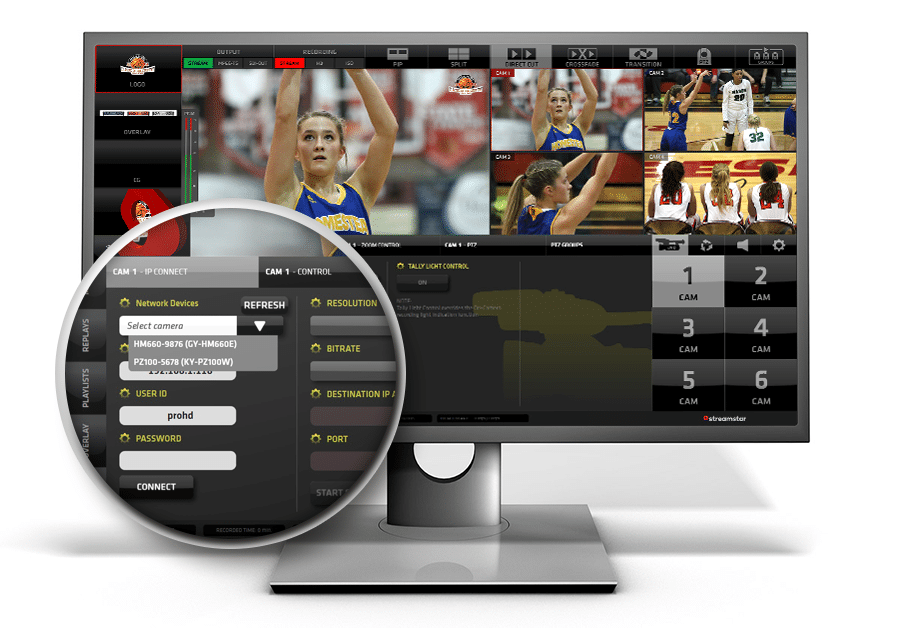 sports production, ZERO CONFIG for JVC camcorders