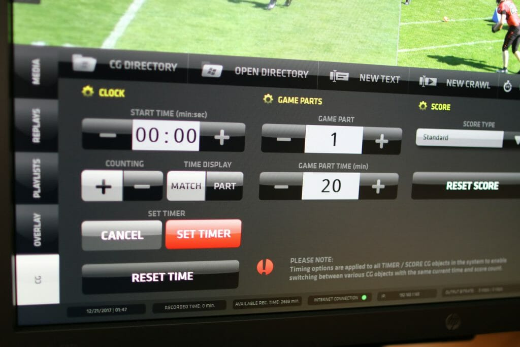 sports graphics, Streamstar SW – Internal Dynamic Live Sports Graphics