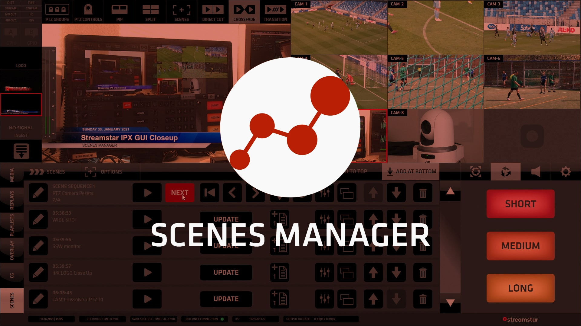 , Scenes Manager – New Functionality Module